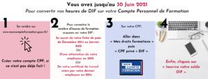 Etapes conversion DIF CPF